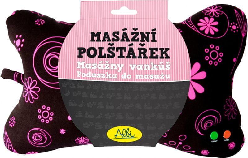 Albi Masážní polštář Růžové květy