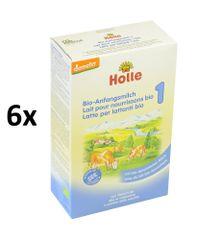 Holle Bio počáteční mléčná kojenecká výživa 6x400g