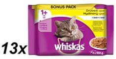 Whiskas saszetki dla kota Adult Drób w galarecie 13 x (4 x 100 g)