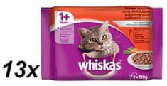 Whiskas Menu v krémovej omáčke a v šťave 13x (4 x 100g)