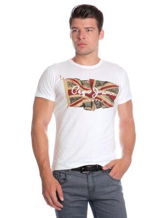 571de495414 Pepe Jeans pánské tričko Flag Logo S bílá