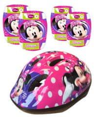Stamp Minnie - Bezpečnostní set helma, kolenní a loketní chrániče