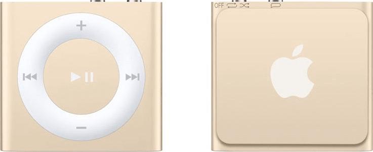 Apple iPod shuffle / 2GB, zlatá