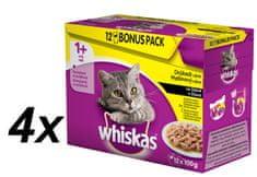 Whiskas Drůbeží výběr ve šťávě BONUS 4 x 12pack