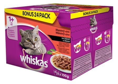 Whiskas Zestaw Saszetek z mięsem i warzywami- Multipack - 24 x 100g