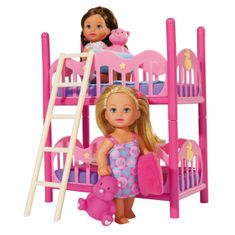SIMBA Zestaw 2 lalek Ewa z łóżkiem piętrowym