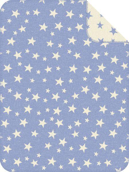 s.Oliver dětská deka jacquard hvězdičky modrá