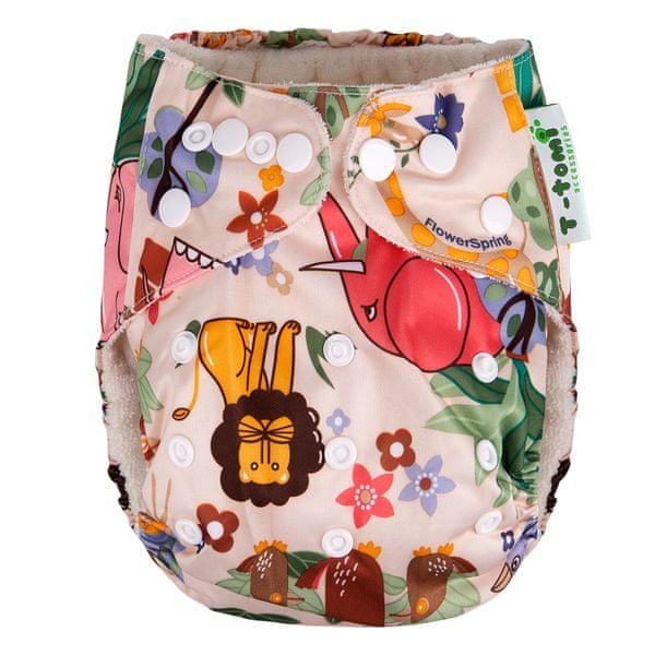 T-tomi Bambusová kalhotková plena AlO, Hnědá afrika NEW + dárek