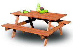 Rojaplast lesena vrtna garnitura Piknik, 160 cm (245/2)