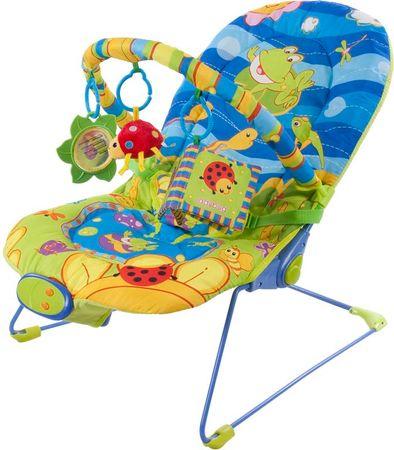 Sun Baby Leżaczek dziecięcy z wibracją i muzyką - Wesoła żabka