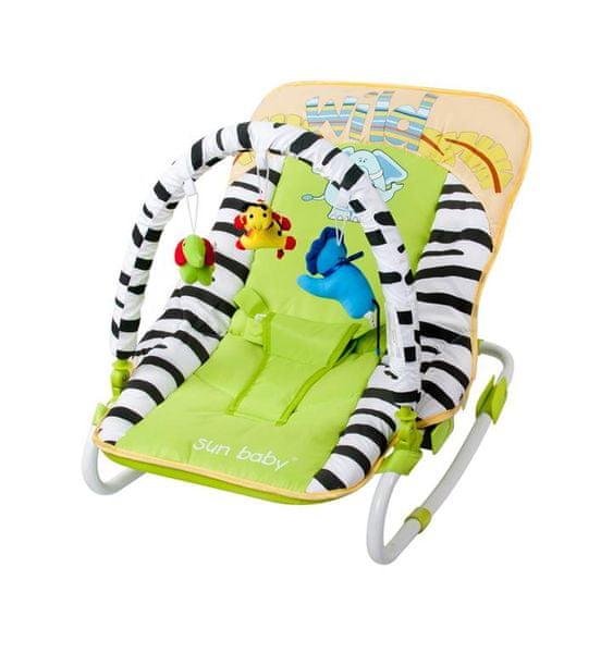 Sun Baby Dětské lehátko Safari, Green