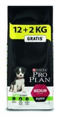 Purina Pro Plan Medium Puppy 12 + 2 kg Zadarmo
