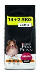 Purina Pro Plan Medium Adult Optihealth 14 kg + 2,5 kg Gratis