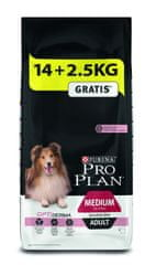 Purina Pro Plan Medium Adult Sensitive Skin 14 + 2,5 kg zadarmo