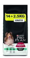 Purina Pro Plan Medium Adult Sensitive Digestion Optidigest 14 kg + 2,5 kg Gratis