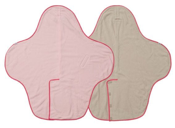 Lodger Zavinovačka Wrapper Motion Fleece, Baby pink