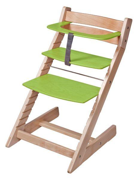 Wood Partner Dětská rostoucí židle UNIZE Natur zelená - II. jakost