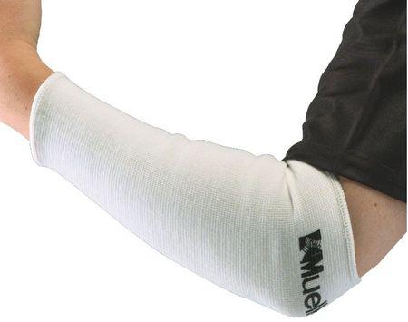 Mueller rokav za komolec, elastičen, par (4111/4116), bel, L