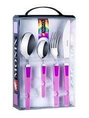 Monix 24-dielny set príborov RAINBOW fialová