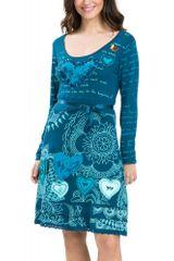 Desigual dámské šaty s dlouhým rukávem