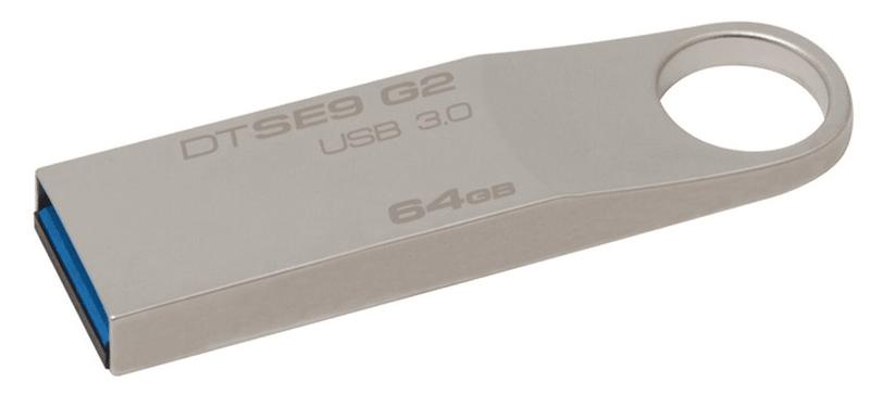 Kingston DataTraveler SE9 G2 64GB / USB 3.0 / Metal (DTSE9G2/64GB)