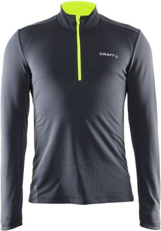 Craft majica Facile Halfzip, moška, siva, XXL