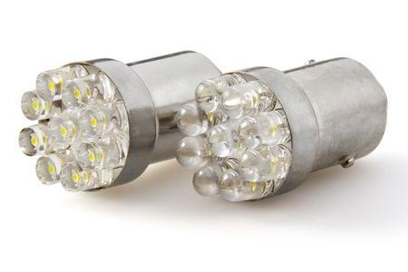 M-Tech par žarnic LED Ba15s, P21W 12V 12x FLUX, rdeče