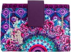 Desigual portfel damski fioletowy