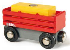 Brio Červený vagón so žltým nákladom