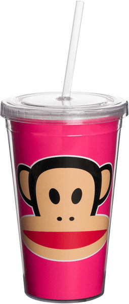 Paul Frank hrnek s brčkem růžová