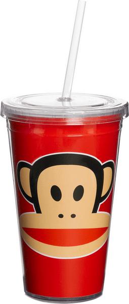 Paul Frank hrnek s brčkem červená