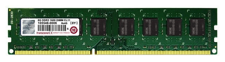 Transcend pomnilniški modul DDR3 ValueRam 8 GB (TS1GLK64V6H)