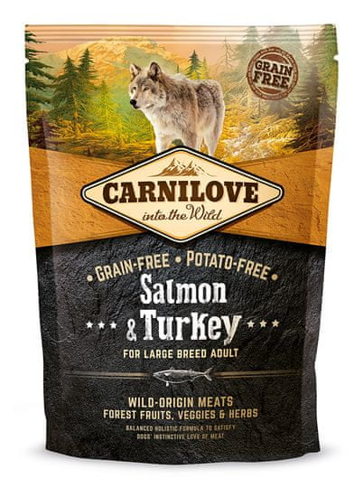 Carnilove Salmon & Turkey for Large Breed Adult 1,5kg - Expirace 9/2021