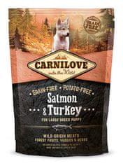 Carnilove Large Breed Puppy - Salmon & Turkey Kutyatáp, 1,5 kg