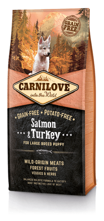 Carnilove Large Breed Puppy - Salmon & Turkey Kutyatáp, 12 kg