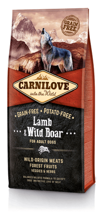 Carnilove Lamb & Wild Boar for Adult kutyatáp - 12kg