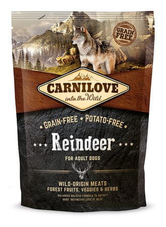 Carnilove Adult - Reindeer Száraz kutyatáp, 1,5 kg