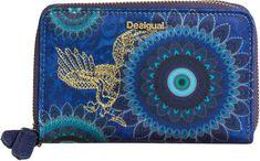 Desigual portfel damski niebieski