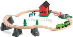Brio Vláčikodráha s mostom a koňom