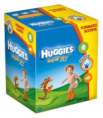 Huggies Pieluchy Super Dry Box Extralarge 6 (16-30 kg) - 87 szt.