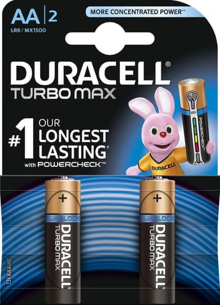 Duracell Turbo Max, AA, 2ks