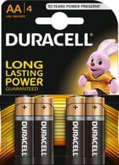 Duracell baterije AA, 4kos (MN1500, LR6)