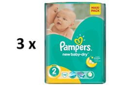 Pampers pelene Active Baby Mini (2), 3-6 kg, 3 x 76 komada