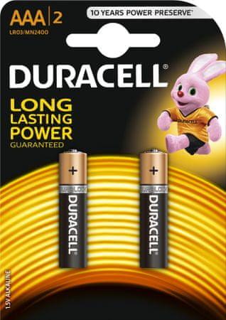 Duracell baterija Basic AAA/BL2, 2 kosa