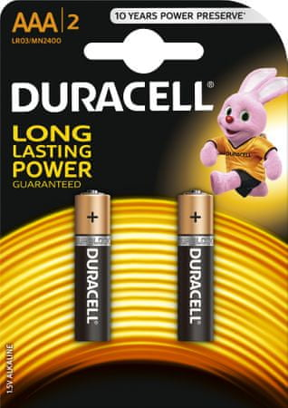 Duracell baterie 2 x AAA/LR033