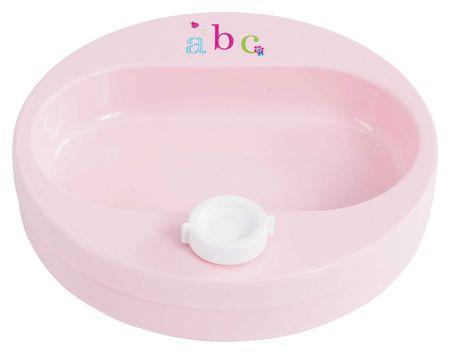 Bebe-jou Ohřívací talíř, ABC světle růžová