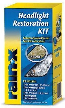 Rain-X komplet za obnovo porumenelih in motnih žarometov Headlight Restoration Kit