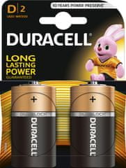 Duracell Basic, D, 2ks