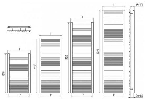 IRSAP kopalniški radiator Ares 1118 × 430 (E I M043 01)