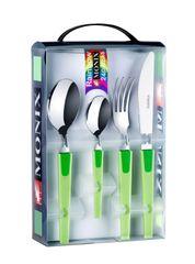 Monix 24-dielny set príborov RAINBOW zelená